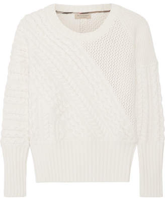 Cable-knit Wool And Cashmere-blend Sweater - Cream