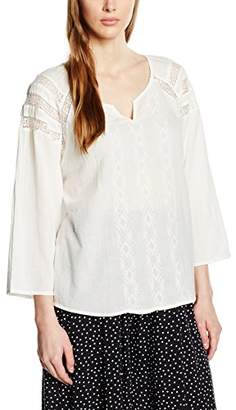 Benetton Women's Embroidered Long Sleeve Blouse