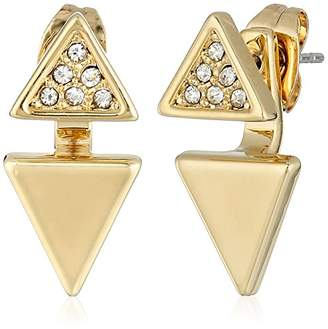 """Rebecca Minkoff Free Bird"""" Double Triangle Front to Back Earrings"""