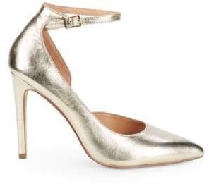 3393569a941c Halston Margo Leather Ankle Strap Pumps