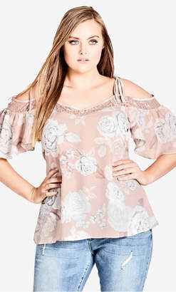 City Chic Whimsy Lace Top