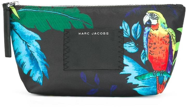 Marc Jacobs Marc Jacobs 'B.Y.O.T parrot' printed make-up bag