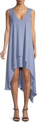BCBGMAXAZRIA Asymmetrical Shift Dress