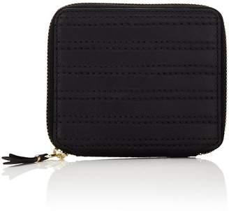 Comme des Garcons Men's Channel-Stitched Zip-Around Wallet