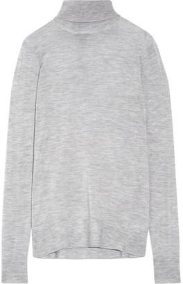 J.Crew - Cashmere Turtleneck Sweater - Gray $270 thestylecure.com