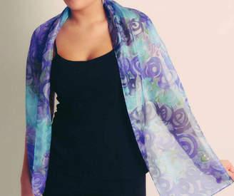 Joanne Eddon (hand painted silk) Garden Silk Scarf