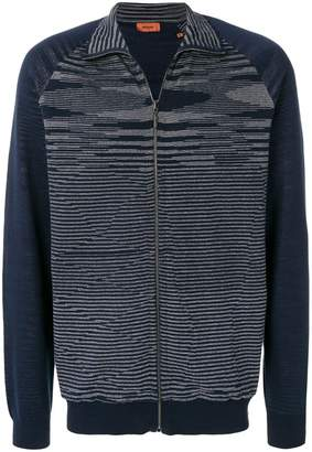 Missoni wave knit zipped sweatshirt