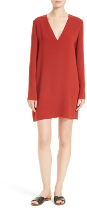 Theory Ulyssa Admiral Crepe Shift Dress $355 thestylecure.com