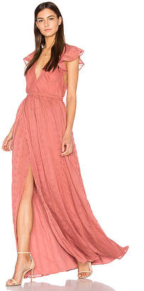 THE JETSET DIARIES Getaway Maxi Dress in Pink $288 thestylecure.com
