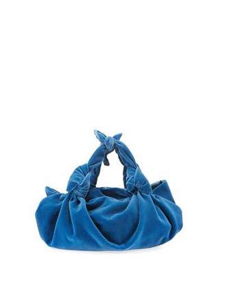 The Row The Ascot Small Velvet Hobo Bag