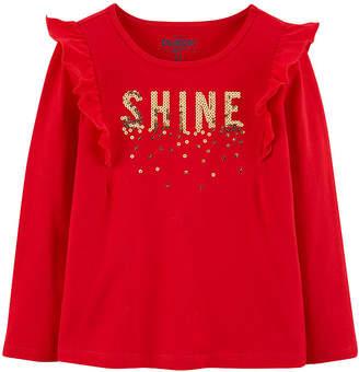 Osh Kosh Oshkosh Long Sleeve Round Neck T-Shirt - Baby Girls