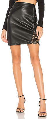 Cupcakes And Cashmere Kayson Faux Leather Skirt