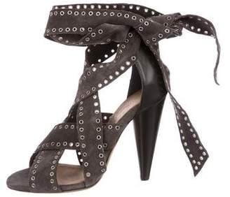 Isabel Marant Suede Wrap Around Sandals