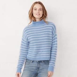 acfe27818502b Lauren Conrad Women s Striped Funnelneck Sweater