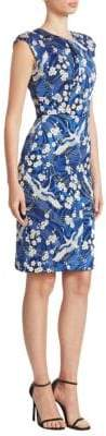Erdem Analena Cap-Sleeve Pencil Dress