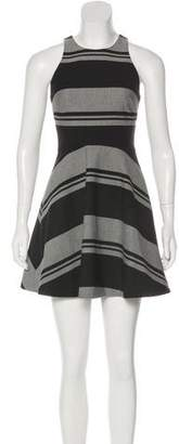 Elizabeth and James Stripe Print Mini Dress