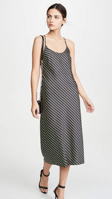 Alexander Wang Striped Wash & Go Halter Dress