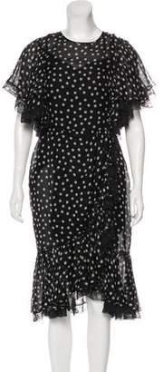 Dolce & Gabbana Ruffle-Accented Silk Dress w/ Tags
