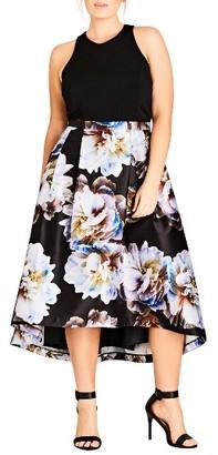 Plus Size Women's City Chic Moonlite High/low Midi Dress $149 thestylecure.com