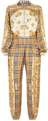 Burberry Scarf Print Check Jumpsuit