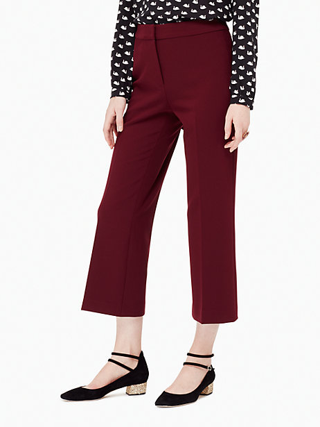 Crepe cropped flare pant