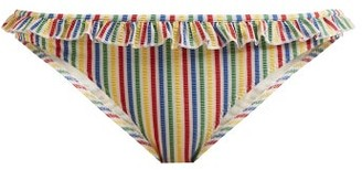 Solid & Striped The Milly Striped Seersucker Bikini Briefs - Womens - Multi Stripe
