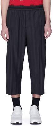 McQ Stripe virgin wool-cotton cropped jogging pants