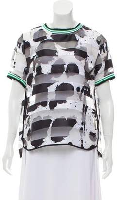 Rebecca Minkoff Printed Striped Top