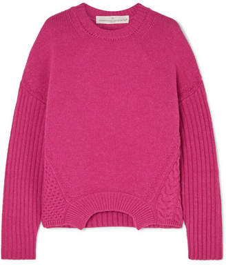 Golden Goose Momoirobara Paneled Merino Wool Sweater - Pink