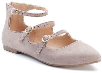 LC Lauren Conrad Women's Strappy Ballet Flats $49.99 thestylecure.com