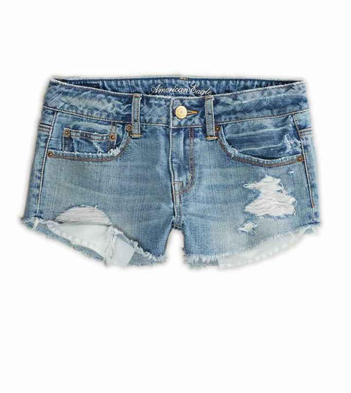 American Eagle AE Destroyed Festival Shortie