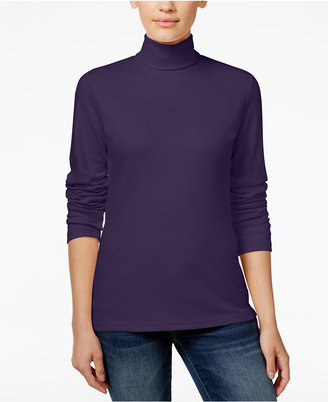 Karen Scott Long-Sleeve Turtleneck, Only at Macy's $10.98 thestylecure.com