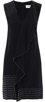 Derek Lam 10 Crosby Bead-Embellished Ruffled Silk Mini Dress