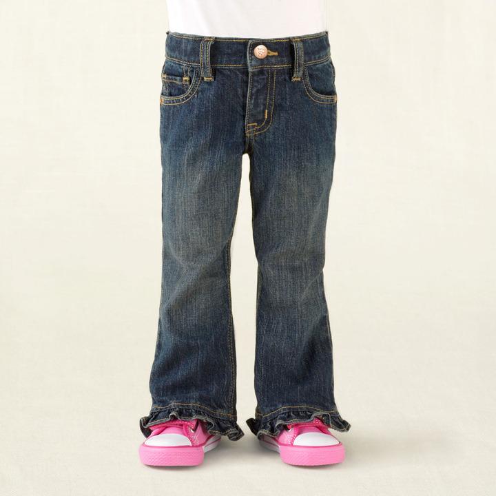 Children's Place Ruffle flare jeans - true indigo