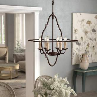 One Allium Way Bamey 6-Light Candle-Style Chandelier