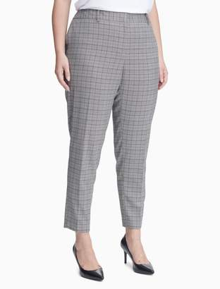 Calvin Klein plus size slim fit plaid pants