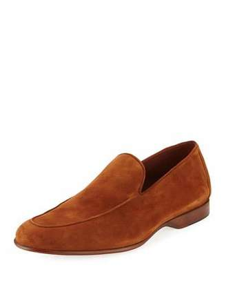 Magnanni for Neiman Marcus Calf Suede Loafer $395 thestylecure.com