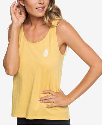 Roxy Juniors' Embroidered Button-Back Tank Top