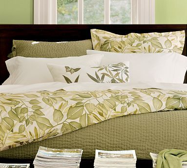Overlapping Leaves Organic Duvet Cover & Sham