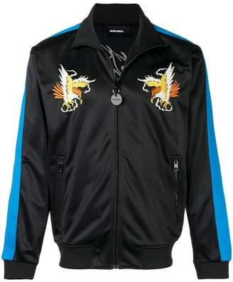 Diesel embroidered sports jacket