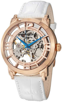 Stuhrling Original Womens White Strap Watch-Sp12896