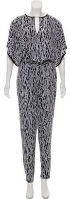 MICHAEL Michael Kors Printed Short Sleeve Jumpsuit