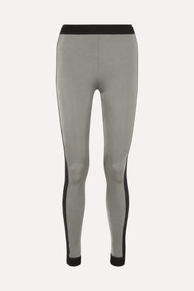 NO KA 'OI NO KA'OI - Mahina Kala Two-tone Stretch Leggings - Silver
