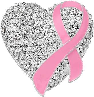 Napier Silver Tone Breast Cancer Awareness Pink Ribbon Pin