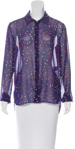 Carven Carven Sheer Printed Blouse