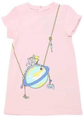 Little Marc Jacobs Globe Light Cotton Sweatshirt Dress