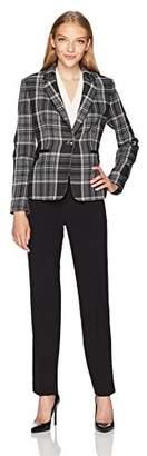 Tahari by Arthur S. Levine Women's Petite Size Plaid Jacket Pant Suit