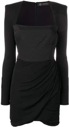 Versace gathered skirt short dress
