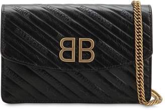 Balenciaga Bb Chain Wallet Leather Bag