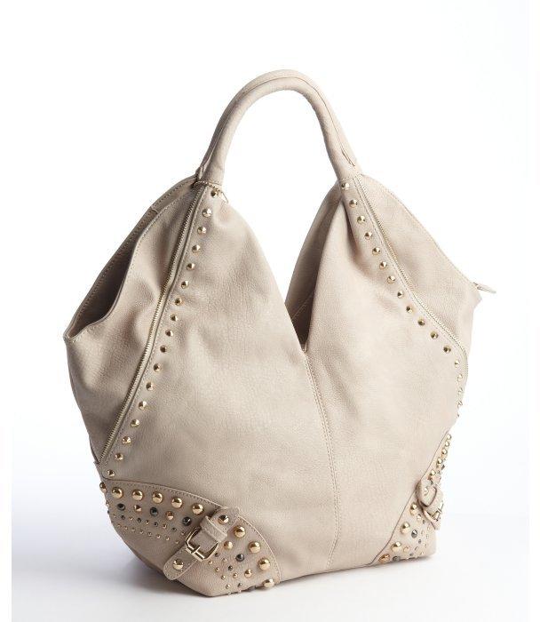 Big Buddha stone studded faux leather 'Nikki' shoulder bag